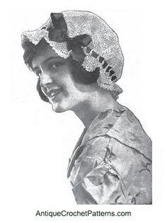 Boudoir Cap #hat free #crochet #pattern