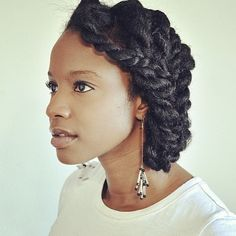 protective style #hair #twists #updo #natural