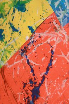 Throwing to paint -- toddler art