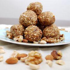 Three Nut Energy Bites Recipe