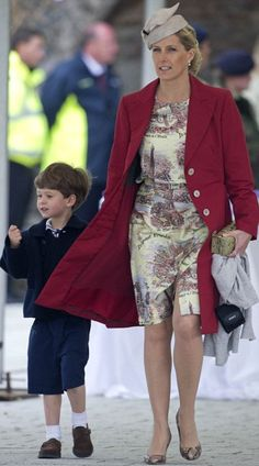 Sophie, the Countess of Wessex, with her son James, Viscount Severn