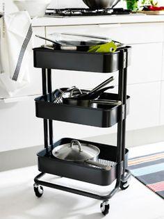 Amazon.com : Ikea - Råskog Kitchen Cart, Gray : Kitchen Storage Carts : Home & Kitchen.....diaper, wipes, etc. storage