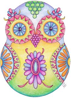 Another colorful owl.