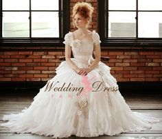 Romantic Wedding Dress Custom Made by WeddingDressFantasy on Etsy, $845.00