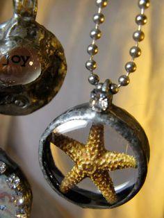 starfish pendant with rhinestone TREASURY by shadesofakasha, $35.00