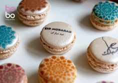 Wish your loved ones this Eid by gifting them a gorgeous box of printed macarons