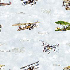 Vintage Planes Clear Skies  #rollershades #windowtreatments #windows #modernwindowtreatments #colors #patterns #airplanes #vintage #lightblue #kidsroom #boysroom