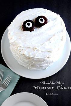Chocolate chip mummy cake @createdbydiane