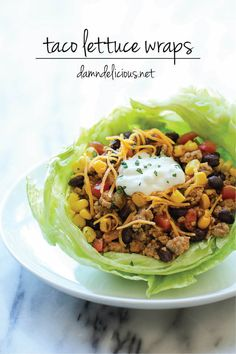 Taco Lettuce Wraps - A wonderfully healthy, low carb alternative to traditional tacos, packed with tons of flavor and protein!