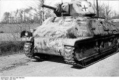 "Captured French "" medium"" tank Somua s35.  France ,June 1944. Germans made large use of captured weaponry. #worldwar2 #tanks"