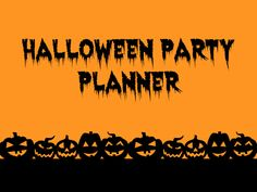Halloween Party Planner - games, decorations, snacks, invitations, music, favors