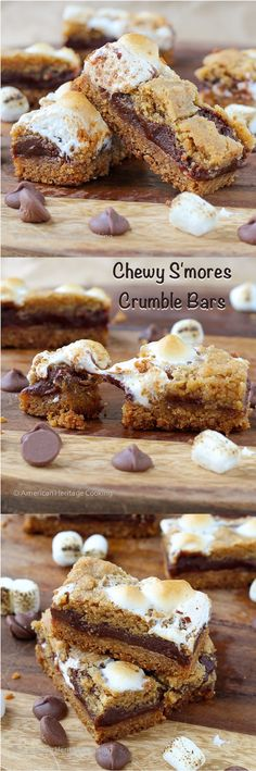 Soft Chewy Smores Crumble Bars - American Heritage Cooking