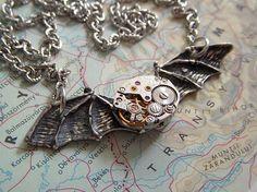Steampunk Batman pendant.