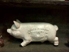 cast iron piggy - that's a serious piggy!