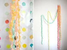 DIY Wedding Idea: Paperdot Garland    #Bridal #Shower #Idea