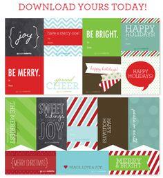 Etiquetas para Navidad / Holiday gift tags