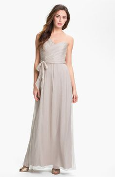 Amsale Ruched One Shoulder Chiffon Gown available at #Nordstrom