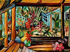 LOVE the Maui artist Rik Fitch ! This piece is called Hana- Lanai
