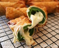 Fried Jalapeno poppers.  This calls for cheese sticks.  I would cut up Pepper Jack cheese to add more zip and lay some cilantro leaves inside with the cheese.  Wrapped in egg roll wraps and fried....brilliant.  Then I would find a great cilantro/chili type dip...yum