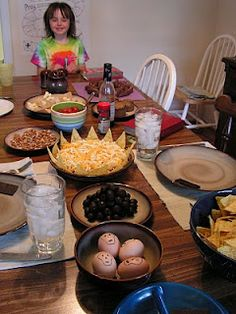 Easter/Lenten meal with symbolic foods.