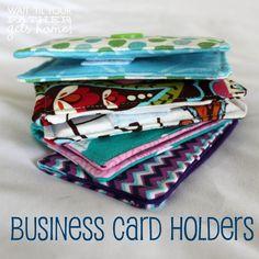 DIY Business Card Holders