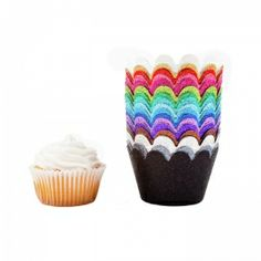 Mini Glitter Reusable Cupcake Wrappers