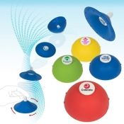 """Promo Popper   Get everyone's attention at trade shows, meetings and seminars with this unique and powerful promotional product!  Soft, pliable, rubberized plastic Turn it inside out, drop it, and watch it go several feet in the air then snap back to its original shape with a loud """"pop"""""""