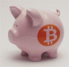 Piggy Bank with Bitcoin