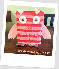 Let Kids Create: Owl Valentine Mailbox