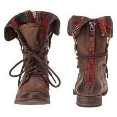Steve Madden Flannel Boots... Oh my god I want them.