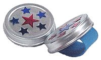 Finger cymbals from baby food jar lids