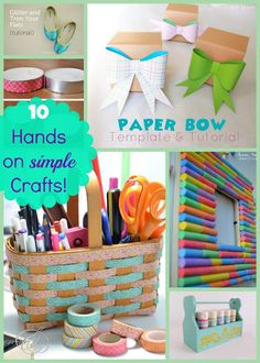 10 Hands on Simple Crafts #crafts #create #DIY