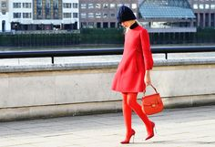 Rouge street style