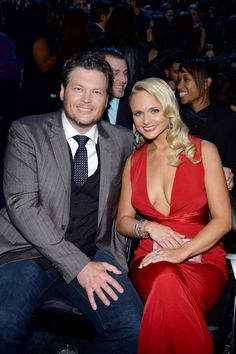 GRAMMY nominees Blake Shelton and Miranda Lambert at the 56th Annual GRAMMY Awards on Jan. 26 in Los Angeles