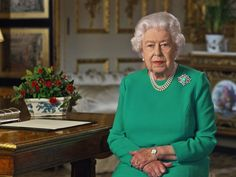The Hopeful Message Of The Queen's Turquoise Look Mirrors Her Past Special Addresses