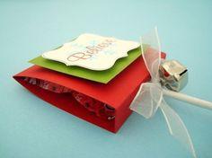 Believe, Christmas lollipop favors for Polar Express pj party