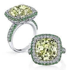 Can you say gelato?    Green amethyst, tsavorite garnets, and sparkling diamonds!