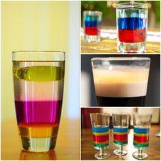 layered drinks, layer drink, jelli shot, 11 layer, layered jello shots