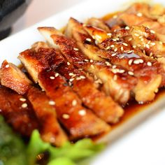 Baked Chicken Teriyaki . An easy delicious meal choice �for any night of the week.This sauce thickens with cooking. Serve with rice so you can enjoy all that juicy deliciousness.