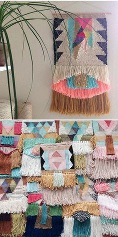 I'm in love with @houseofmaryanne #Tapestry #Yarn #Art  via @JealousCurator weav tapestri