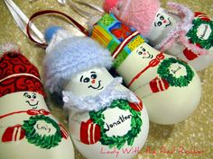 Light-Bulb Snowmen