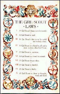 USA Girl Scout Laws