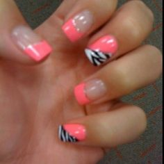 Pink and zebra!