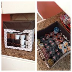 Thirty-One's new Junior Cube (with lid) is great for organizing and storing all those K-Cups!  One Junior Cube can hold 125 K-Cups!  Nice!!