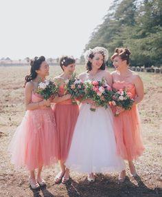 vintage pink dresses, so fun!