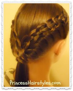 4 strand braid and french twist (the braided ledge ponytail)