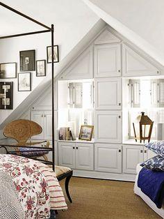 Attic bedroom.