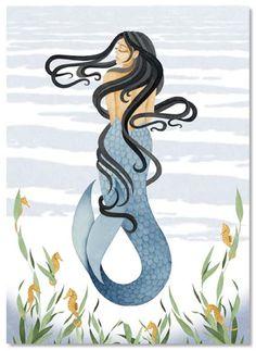 Mermaid art by Blossom Graphics.