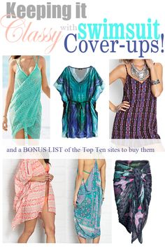 Swimsuit season is upon us! Love these coverup ideas from FlatsToFlipFlops.com