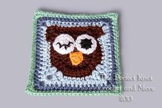 Owl! 6 inch Square